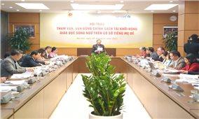 Hội thảo về giáo dục song ngữ dựa trên cơ sở tiếng mẹ đẻ