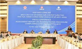 Chính phủ công bố chỉ số đánh giá chi phí tuân thủ thủ tục hành chính năm 2020