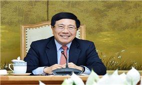 Phó Thủ tướng Phạm Bình Minh trao đổi với đặc phái viên của Tổng thống Hoa Kỳ
