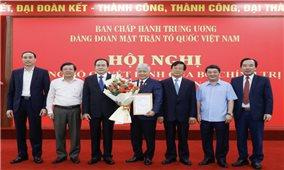 Bộ Chính trị chỉ định đồng chí Đỗ Văn Chiến giữ chức Bí thư Đảng đoàn MTTQ Việt Nam nhiệm kỳ 2019-2024