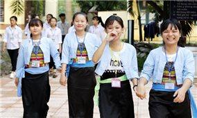 Học sinh ở 14 xã được dự tuyển vào Trường phổ thông dân tộc nội trú