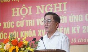 Chủ nhiệm Ủy ban Kiểm tra Trung ương Trần Cẩm Tú tiếp xúc cử tri tại Lào Cai