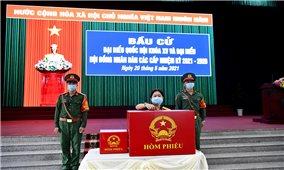 TP. Cần Thơ: Lực lượng vũ trang bỏ phiếu bầu cử sớm