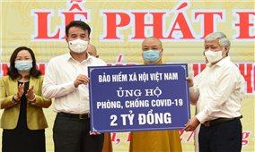 Bảo hiểm xã hội Việt Nam trao 2 tỷ đồng ủng hộ phòng chống Covid-19