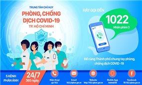 Cổng thông tin 1022 tiếp nhận thông tin 24/7 về dịch bệnh COVID-19