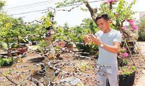 Bỏ phố về quê trồng hoa