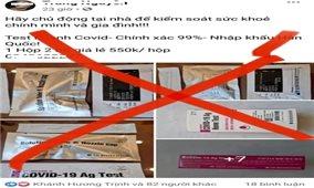 Cảnh báo nguy cơ từ bộ kit test nhanh SARS-CoV-2 rao bán trên mạng