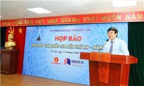 Lễ trao Giải Báo chí Quốc gia XV sẽ diễn ra dịp Đại hội XI Hội Nhà báo Việt Nam