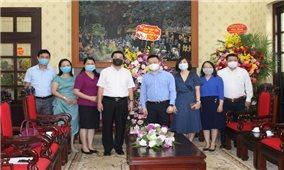 Thứ trưởng, Phó Chủ nhiệm Lê Sơn Hải chúc mừng Báo Nhân dân và Tạp chí Cộng sản nhân Ngày Báo chí Cách mạng Việt Nam