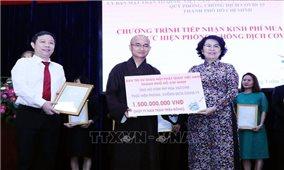 Tăng ni, phật tử TP. Hồ Chí Minh hỗ trợ người dân gặp khó khăn do dịch COVID-19