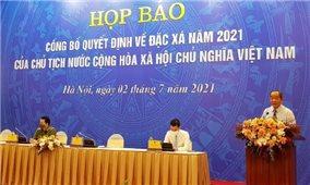 Công bố Quyết định của Chủ tịch nước về đặc xá năm 2021