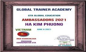 """Cô giáo Hà Kim Phượng đoạt Giải thưởng """"Đại sứ giáo dục toàn cầu"""""""
