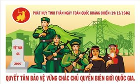 Thi Sáng tác tranh cổ động Kỷ niệm 75 năm Ngày Toàn quốc kháng chiến
