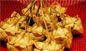 Bánh ka tum của đồng bào Khmer vùng Bảy Núi