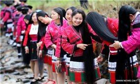Ngôi làng tóc mây của người Dao Đỏ ở Trung Quốc