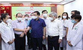 Gặp mặt cán bộ y tế các bệnh viện Trung ương tăng cường cho các tỉnh phía Nam phòng, chống dịch bệnh Covid-19