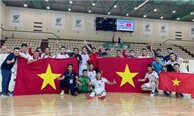 Đội tuyển Futsal Việt Nam di chuyển ra Hà Nội chuẩn bị cho World Cup 2021
