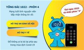 Tổng đài 1022 - nơi tiếp nhận thông tin hỗ trợ sức khỏe và an sinh xã hội