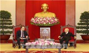 Tổng Bí thư tiếp Đại sứ Liên bang Nga tại Việt Nam