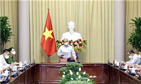 Chủ tịch nước chủ trì cuộc họp về đặc xá