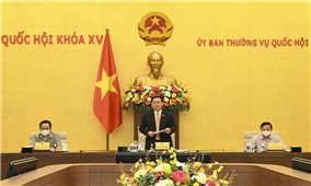 Chủ tịch Quốc hội Vương Đình Huệ làm việc với Tổ công tác của Ủy ban Thường vụ Quốc Hội về thực hiện Nghị quyết số 30/2021/QH15