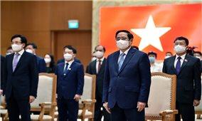 Thủ tướng Phạm Minh Chính kêu gọi cộng đồng quốc tế đoàn kết hơn nữa để đẩy lùi đại dịch và xử lý các vấn đề toàn cầu