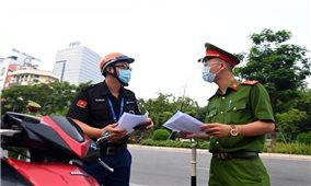 Hà Nội chưa xử phạt theo giấy đi đường mới trong hai ngày 6 và 7/9