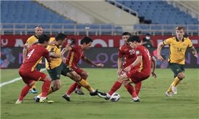 Đội tuyển Việt Nam thi đấu nỗ lực trước Australia