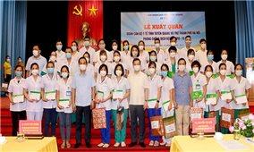 Tuyên Quang cử 100 cán bộ y tế hỗ trợ Hà Nội chống dịch Covid-19