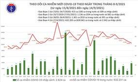 Ngày 14/9: Việt Nam có thêm 10.508 ca mắc COVID-19 và 12.683 ca khỏi bệnh