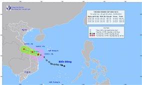 Tin khẩn cấp: Bão số 6 ngay trên vùng biển từ Quảng Trị đến Quảng Ngãi