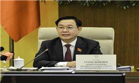 Chủ tịch Quốc hội Vương Đình Huệ làm việc với các doanh nghiệp Hoa Kỳ