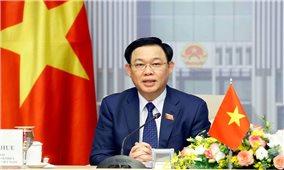 Chủ tịch Quốc hội cảm ơn Latvia nhượng vaccine phòng COVID-19 cho Việt Nam