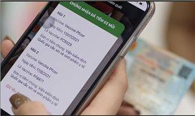 Bộ Công an tích hợp thẻ xanh Covid-19 trên căn cước công dân gắn chip