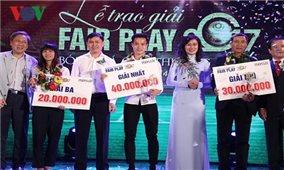 Văn Toàn và U23 Việt Nam được vinh danh ở giải Fair-play 2017