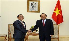 Phó Thủ tướng Thường trực Chính phủ Trương Hòa Bình tiếp Bộ Các Vấn đề biên giới Myanmar