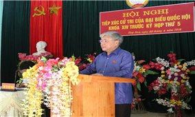 Bộ trưởng, Chủ nhiệm UBDT Đỗ Văn Chiến tiếp xúc cử tri tại xã Hợp Hòa (Tuyên Quang): Cử tri quan tâm nhiều về đầu tư cơ sở hạ tầng