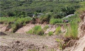 Đăk Lăk: Hàng chục hộ dân sống thấp thỏm bên bờ sông sạt lở