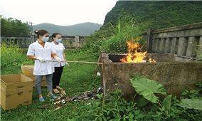 Quảng Trị: Nguy cơ tiềm ẩn từ xử lý rác thải y tế thủ công