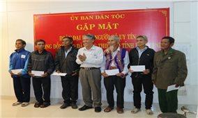 Văn phòng đại diện Ủy ban Dân tộc tại TP. Hồ Chí Minh: Gặp mặt Người có uy tín tỉnh Bình Định