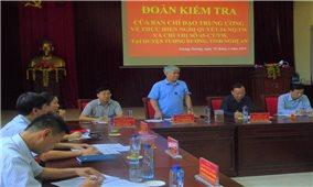 Kiểm tra thực hiện Nghị quyết số 24-NQ/TW và Chỉ thị 45-CT/TW tại huyện Tương Dương, tỉnh Nghệ An