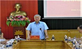 Đoàn kiểm tra của Ban chỉ đạo Trung ương về thực hiện Nghị quyết số 24-NQ/TW làm việc tại Quảng Bình