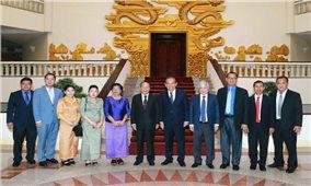 Phó Thủ tướng Thường trực Chính phủ Trương Hòa Bình tiếp Bộ trưởng Bộ Lễ nghi và Tôn giáo Campuchia