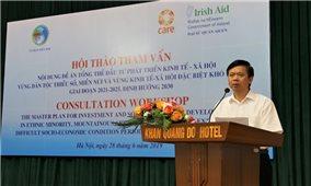 Hội thảo góp ý Đề án tổng thể phát triển kinh tế, xã hội vùng DTTS và miền núi
