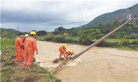 Người dân cần chú ý an toàn khi sử dụng điện mùa mưa bão