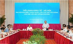 Thủ tướng chủ trì họp Tiểu ban KTXH với các địa phương miền Trung, Tây Nguyên