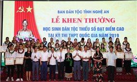Nghệ An: Tuyên dương 39 học sinh xuất sắc người dân tộc thiểu số