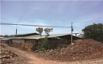Lò gạch thủ công gây ô nhiễm môi trường