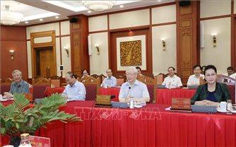 Bộ Chính trị làm việc về chuẩn bị đại hội các đảng bộ trực thuộc Trung ương