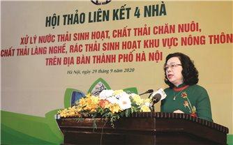 Hà Nội: Tổ chức Hội thảo liên kết 4 nhà về xử lý rác thải nông thôn